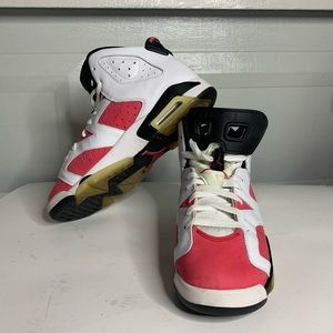 Coral pink 6s size 7y